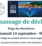 Championnats du monde d'apnée : Nettoyage de la plage des Marinières
