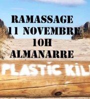 ramassage déchets aquatiques Almanarre Hyeres