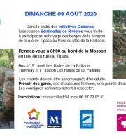 Nettoyage des berges de la Mosson/ Parc du Mas de La Paillade à Montpellier