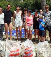 Ramassage éco-citoyen à Port-Pin et En-Vau