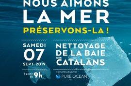 Nettoyage de la baie des Catalans